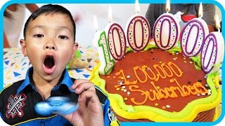 100,000 Subscribers!!! TigerBox HD Celebration, Fidget Spinner Family Event Party