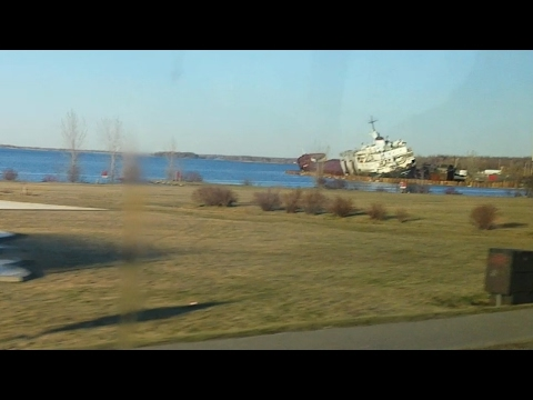 Cargo ship tipping over in the Saint Lawrence River near Beauharnois -- Incredible!
