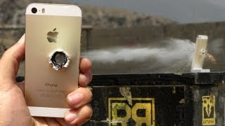 iPhone 5s vs 50 cal - RatedRR Slow-Mo Torture Test