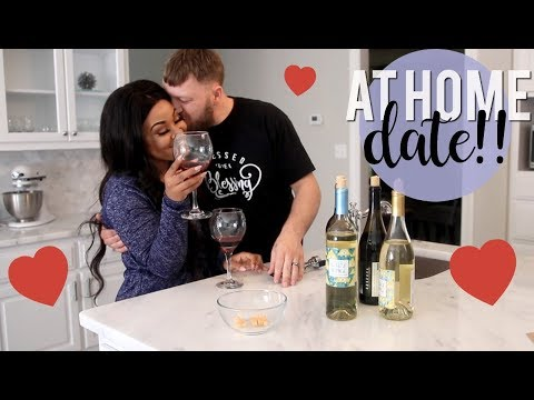Our Casual At Home Day Date | Wine Tasting + Homemade Pizza!! (видео)