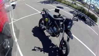 2. 2008 Suzuki DR-Z400SM (Supermoto) Walkaround, Revs, Flybys, Onboard Footage