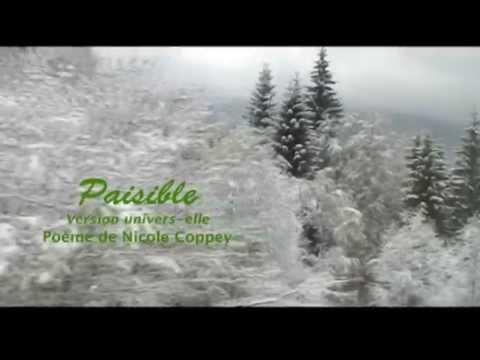 'Paisible' : Poème de Nicole Coppey
