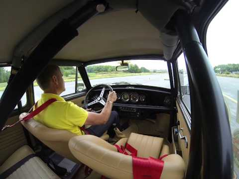 Mini Day, Aug 2013, Bromma Sweden, Innocenti Cooper 1300 Export 1975, On board cam