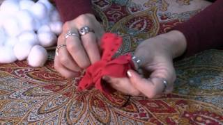 """Make your life more magical! Get a free copy of my eBook """"Seven Secrets to Supercharge Your Spellwork"""": http://sevensecretsebook.com Here are the steps for making a spell poppet (sometimes called a voodoo doll or a doll baby) out of cloth. We see these dolls being used for negative magic in the movies, but they can be used for healing work, love work and many other kinds of magic where the person you are working on is not near you or you don't want them to know that you are working on them. For this spell you will need the following. Most are available at a fabric store. The unusual items are available at parlourofwonders.com:Flannel or other clothCotton for fillingPatternStraight PinsScissorsNeedleThread or Embroidery FlossPersonal ConcernsLovageHibiscusLavenderJuniper BerriesJasmineLove Me oilPetition PaperPen or Pencil"""