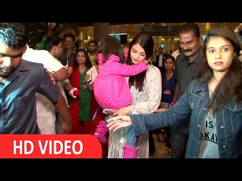 Aishwarya Rai Bachchan Spotted At International Airport