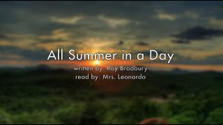 All Summer in a Day Audiobook Read Aloud