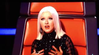 Christina Aguilera whistle/falsetto note on The Voice