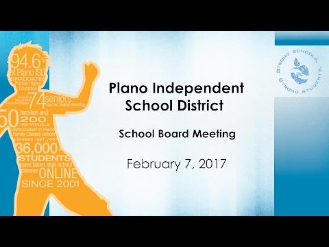 School Board Meeting February 7, 2017