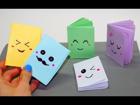 DIY Kawaii محمول / Mini notebook أفكار المدرسة