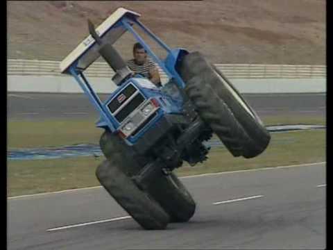 stunt tractor driving