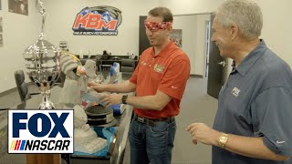 Kyle Busch shows Darrell Waltrip where he keeps his 200+ NASCAR trophies | NASCAR on FOX by FOX Sports