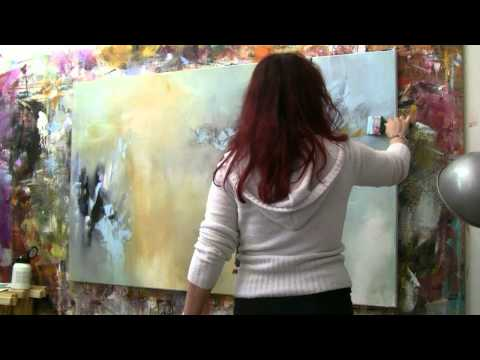 "Abstract acrylic painting Demo – Abstrakte Malerei ""Windgeflüster"" by Zacher-Finet"