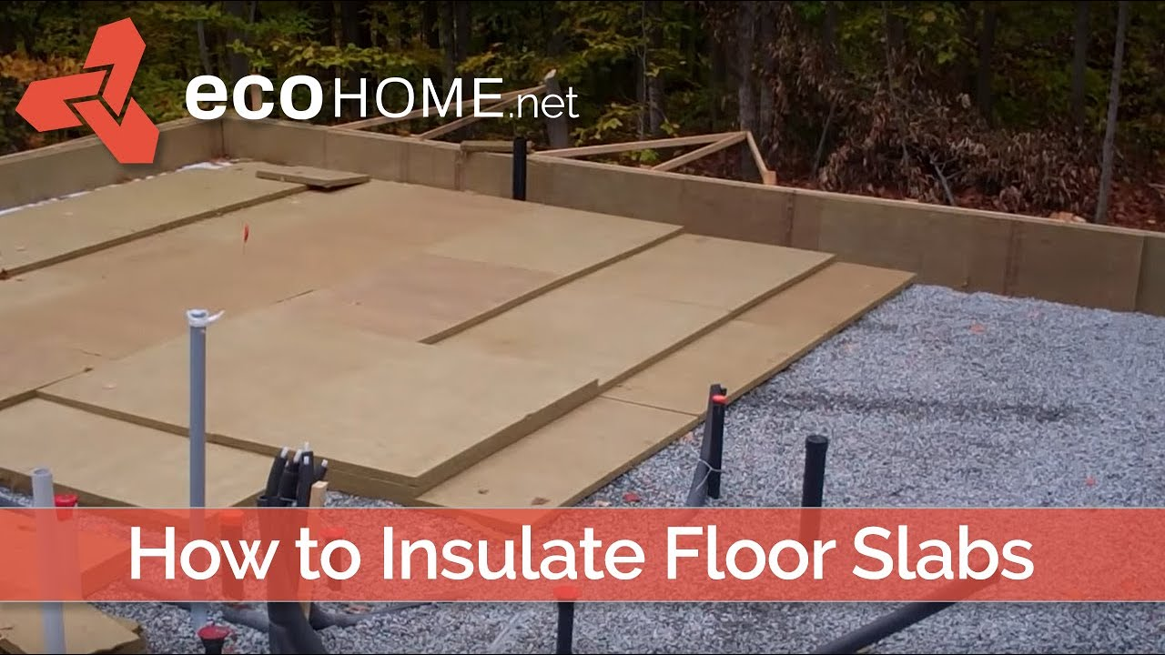 Insulating below slab on grade floors green home guide for Slab on grade homes