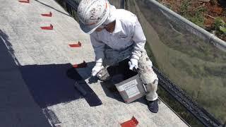 関市 屋根の下塗り/F様/鵜飼