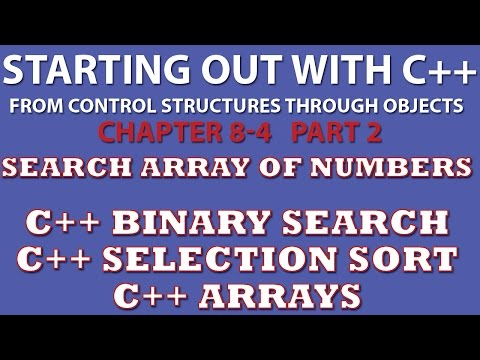 C++ Programming Challenge 8-4 Part 2: Charge Account Validation (C++ Binary Search, C++ Selection Sort)