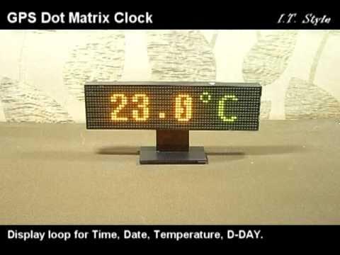 GPS 64x16 Dual LED Dot Matrix Clock [AVR ATmega16]