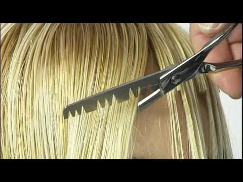 hair style - taglio con forbici zig zag