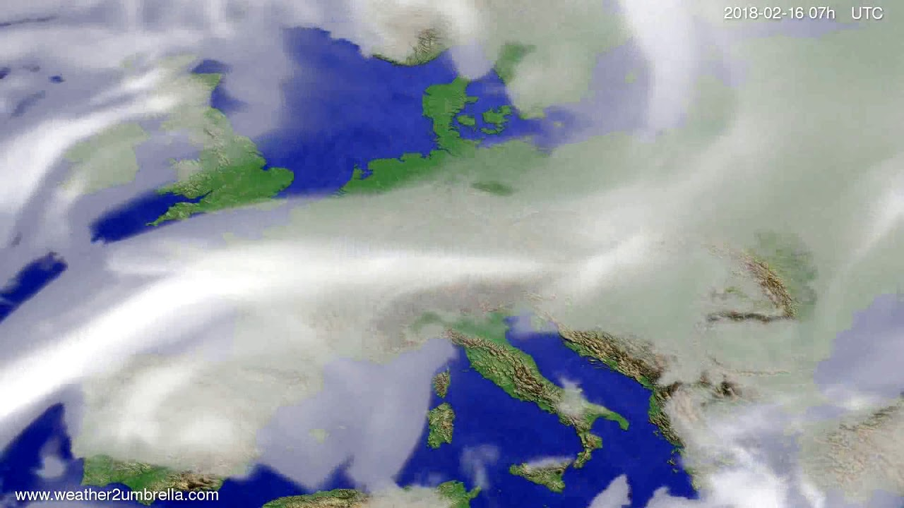 Cloud forecast Europe 2018-02-12