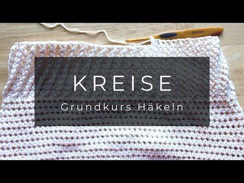Grundkurs Häkeln – Kreis / Teller mit Luftmaschen Linkshänder