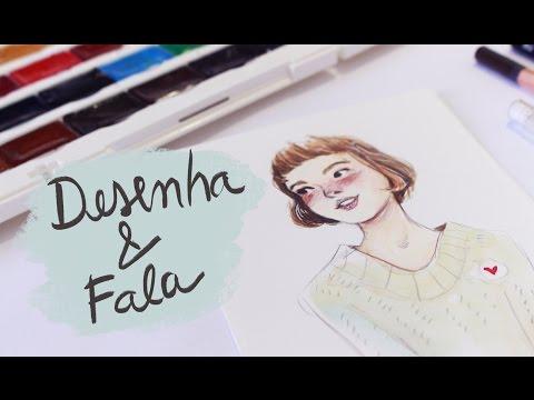 DESENHA E FALA #6 | Fazendo unboxing e testando aquarela White Nights