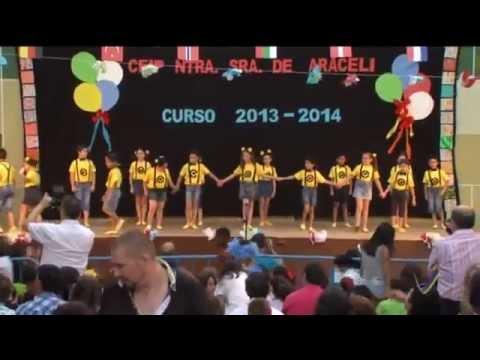 COLEGIO NTRA. SRA. DE ARACELI FIESTA FIN DE CURSO 2014 - 2º A 6/28 Happy (видео)
