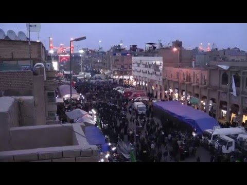 Video Walk to Karbala, Ziyara of Imam Hussain, Arbaeen. HD مشاي زوار الحسين كربلاء download in MP3, 3GP, MP4, WEBM, AVI, FLV January 2017