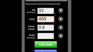 Watts Amps Volts Calculator YouTube video