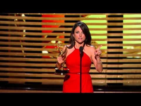 julia - Julia Louis-Dreyfus receives a 66th Primetime Emmy award for Outstanding Lead Actress in a Comedy series.