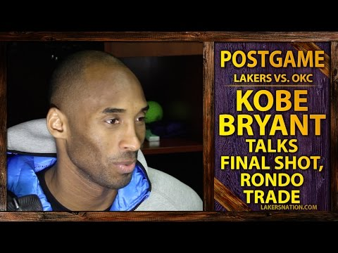 trade - After the Lakers lost to the Thunder, Kobe Bryant says he's figuring out how to battle fatigue. Plus, Bryant comments on the trade that sent Rajon Rondo to the Dallas Mavericks. Join the Largest...