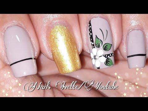 Videos de uñas - Uñas sencillas y elegantes  Decoracion de uñas para principiantes  uñas fácil de hacer