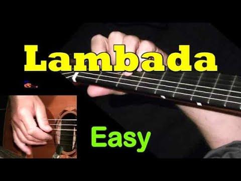 Lambada: easy + TAB! Guitar lesson, learn to play