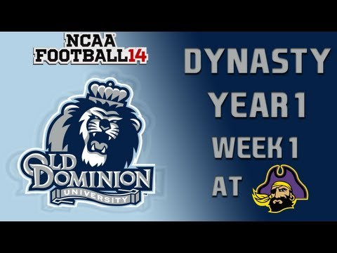NCAA Football 14 Dynasty - Old Dominion: Episode 2