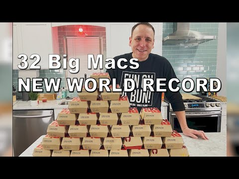 Most Big Macs Ever Eaten by One Person   Joey Chestnut Sets New World Record