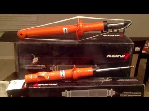 Eibach Sportline lowering springs with Koni orange struts. (видео)