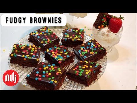 Best Fudgy Brownies   Gooey Brownies   Eid dessert   NDJ