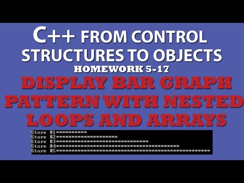 C++ Display Bar Graph (Ex 5.17) Using Nested For Loops and C++ Arrays