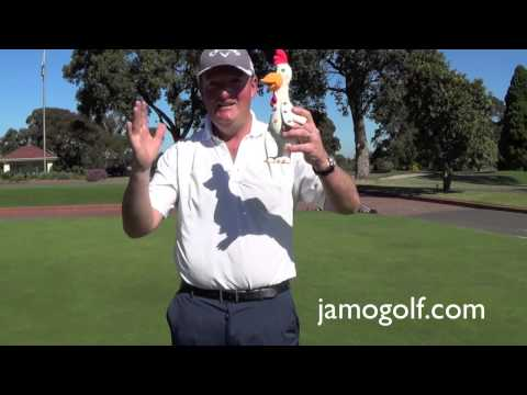 (golf lesson) Can a rubber chicken help you putt?