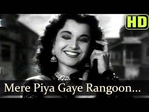 Video Mere Piya Gaye Rangoon - Patanga - Shamshad Begum Old Songs -Hindi Old Hits download in MP3, 3GP, MP4, WEBM, AVI, FLV January 2017