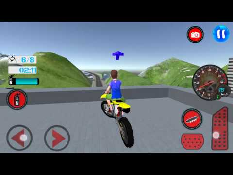 Kids MotorBike Roof Top Stunts