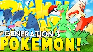 GENERATION 3 POKEMON (CATCHING 31 POKEMON) - Minecraft Pixelmon Island - Pokemon Mod