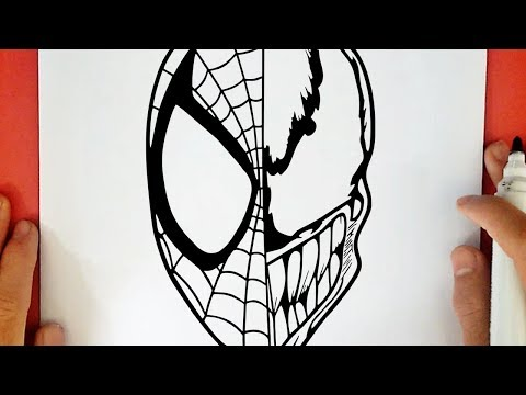 COMO DIBUJAR A SPIDERMAN VS VENOM