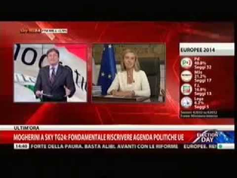 Elezioni Ue: Ministro Mogherini a SkyTG24