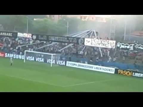 Recibimiento de la hinchada de Libertad vs. Palmeiras - Copa Libertadores 2013 - La Escolta - Libertad