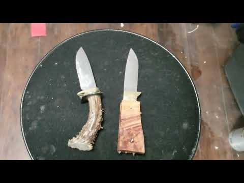 Making the SFW knives, shed antler handle.
