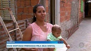 Moradoras de Marília recebem prêmios sorteados pela Seja Digital
