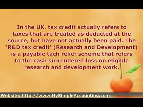 Tax Credit - http://www.mysimpleaccounting.com explains what the commonly used term (tax credit) can refer to.