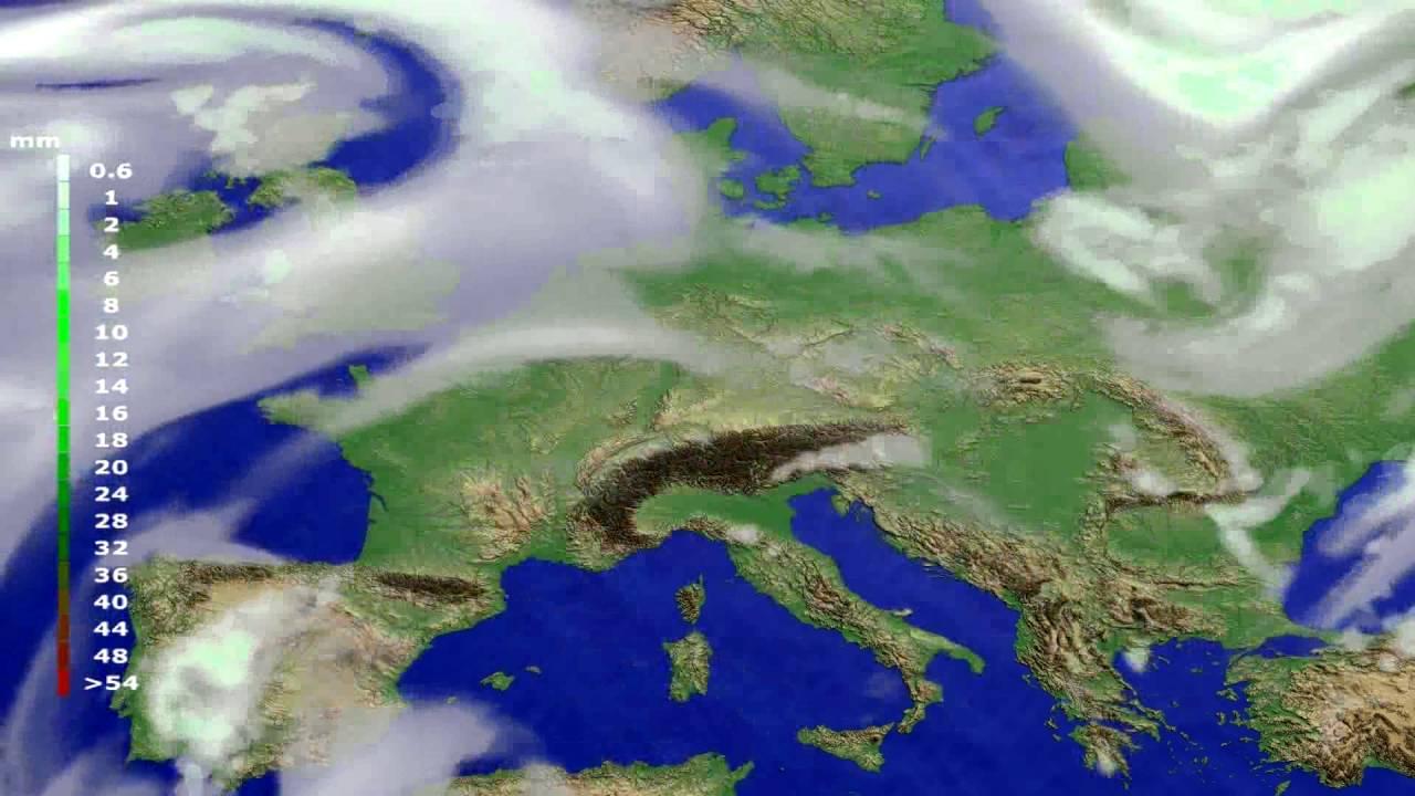Precipitation forecast Europe 2016-07-05