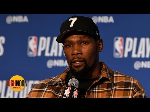 Video: Kevin Durant ditches No. 35, plans to wear No. 7 for the Nets   High Noon