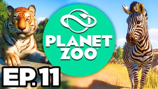 Planet Zoo Ep.11 - •️ • SNOW LEOPARD ENCLOSURE, DECORATING THE EXHIBITS!!! (Gameplay / Let's Play)