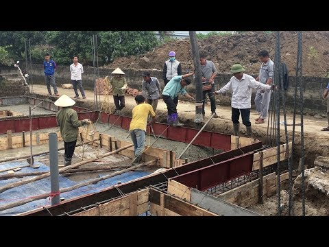 Smart Techniques Construction Foundation With Ready Mixed Concrete - Building House, Step By Step